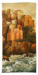 Cinque Terre Lerici Italia Painting Hand Towel