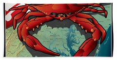 Citizen Crab Of Maryland Bath Towel