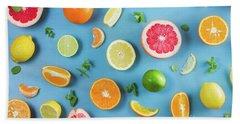 Citrus Summer Hand Towel by Anastasy Yarmolovich