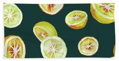 Citrus Hand Towel by Varpu Kronholm