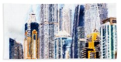 City Abstract Bath Towel