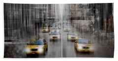City-art Nyc 5th Avenue Traffic Hand Towel