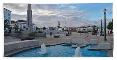 City Center Of Tavira Bath Towel