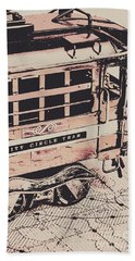 City Circle Street Artwork Hand Towel