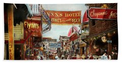 Hand Towel featuring the photograph City - Coney Island Ny - Bowery Beer 1903 by Mike Savad