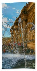 Hand Towel featuring the photograph City Fountain  by Raymond Earley