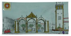 City Gates, San Miguel,azores Hand Towel