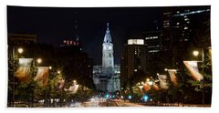 City Hall From The Parkway Hand Towel