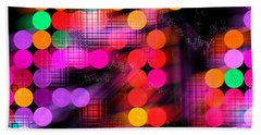 Hand Towel featuring the digital art City Lights by Fran Riley
