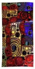 City Lights Hand Towel by Ron Bissett
