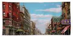 City - Memphis Tn - Main Street Mall 1909 Hand Towel by Mike Savad