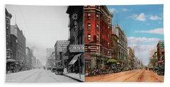 City - Memphis Tn - Main Street Mall 1909 - Side By Side Bath Towel by Mike Savad