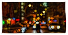 City Nights, City Lights Bath Towel by Jeffrey Friedkin