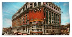 Hand Towel featuring the photograph City - Ny New York - The Nation's Largest Dept Store 1908 by Mike Savad