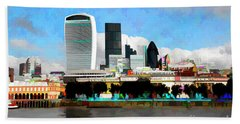 City Of London Bath Towel by Roger Lighterness