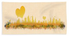 City Of Love Hand Towel