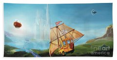 City On The Sea Bath Towel