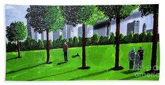 City Park By David Jackson Hand Towel