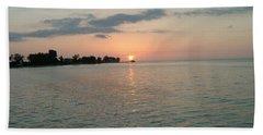 City Pier Holmes Beach Bradenton Florida Hand Towel