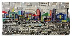 City Scape Bath Towel