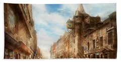 Hand Towel featuring the photograph City - Scotland - Tolbooth Operator 1865 by Mike Savad