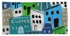 City Stories- Coffee Shop Bath Towel