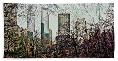 City View From Park Hand Towel by Sandy Moulder