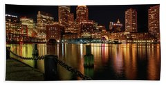 City With A Soul- Boston Harbor Bath Towel