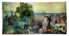 Cityscape 38 - Homeless Angels Hand Towel by Alfredo Gonzalez