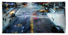Hand Towel featuring the photograph Cityscape 39 - Crossroads by Alfredo Gonzalez