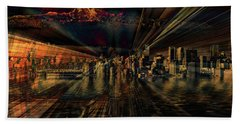 Cityscape Hand Towel by Elaine Hunter