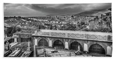 Bath Towel featuring the photograph Cityscape Of Florence And Cemetery by Sonny Marcyan