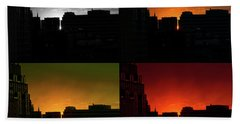 Cityscape Sunset Hand Towel