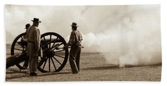 Civil War Era Cannon Firing  Hand Towel