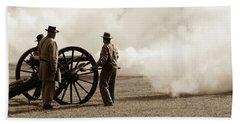 Civil War Era Cannon Firing  Bath Towel