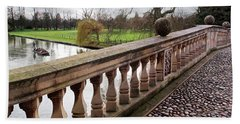 Hand Towel featuring the photograph Clare College Bridge Cambridge by Gill Billington