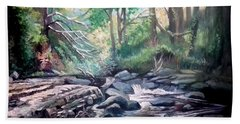 Hand Towel featuring the painting Clare Glens ,co Tipparay Ireland by Paul Weerasekera