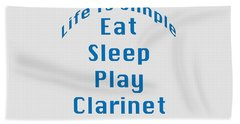 Clarinet Eat Sleep Play Clarinet 5512.02 Hand Towel