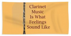 Clarinet Is What Feelings Sound Like 5574.02 Hand Towel