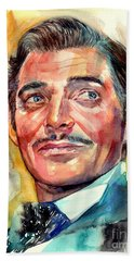 Clark Gable Portrait Bath Towel