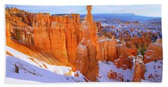 Bath Towel featuring the photograph Classic Bryce by Chad Dutson