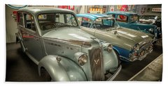 Bath Towel featuring the photograph Classic Car Memorabilia by Adrian Evans