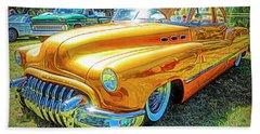 Classic Fifties Buick - Cruising The Coast Hand Towel
