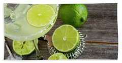 Hand Towel featuring the photograph Classic Lime Margarita by Teri Virbickis