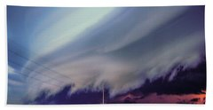 Classic Nebraska Shelf Cloud 028 Bath Towel