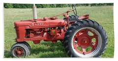 Classic Tractor Bath Towel by Richard Bryce and Family