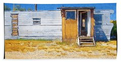 Hand Towel featuring the photograph Classic Trailer by Susan Kinney
