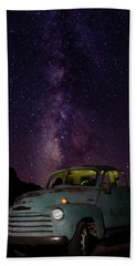 Classic Truck Under The Milky Way Hand Towel