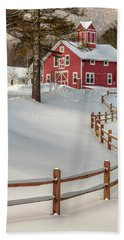 Classic Vermont Barn Hand Towel