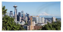 Classic View Of Seattle, Usa Bath Towel